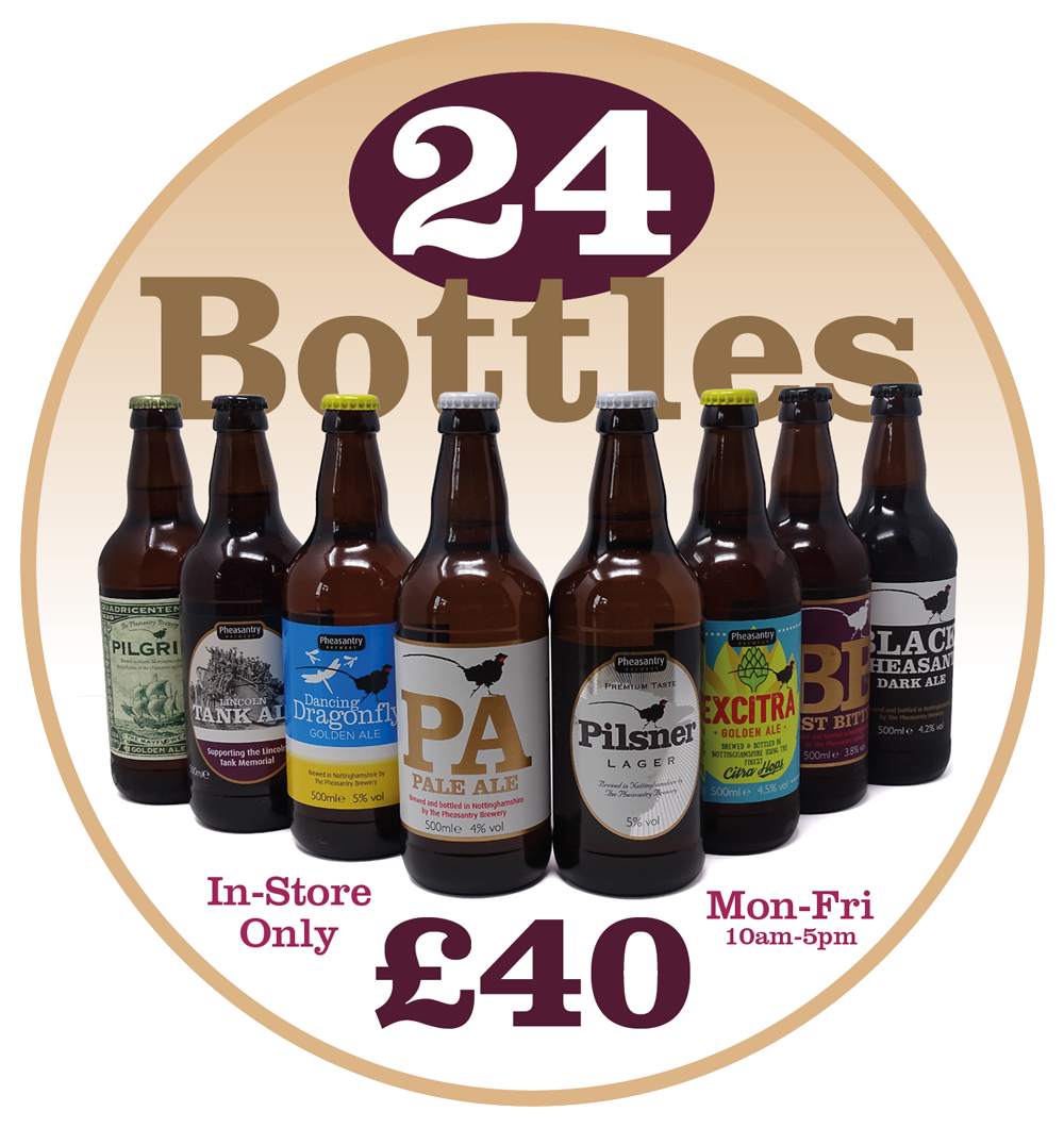 24 bottles for £40 - instore only