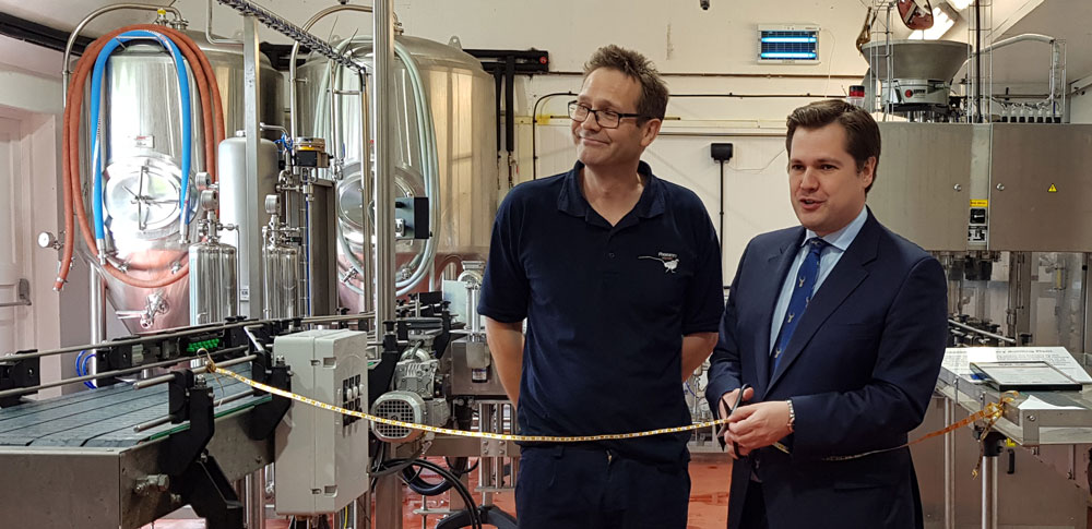 New bottling line Robert Jenrick MP
